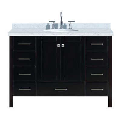 "Utley 49"" Single Bathroom Vanity Set Base Finish: Espresso"
