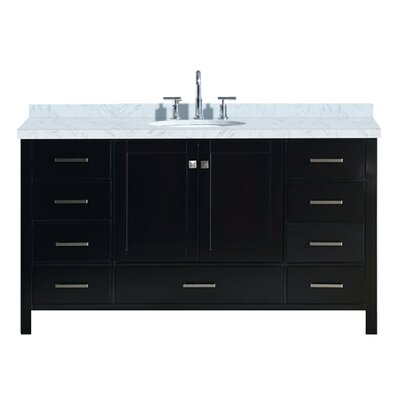 "Utley 61"" Single Bathroom Vanity Set Base Finish: Espresso"