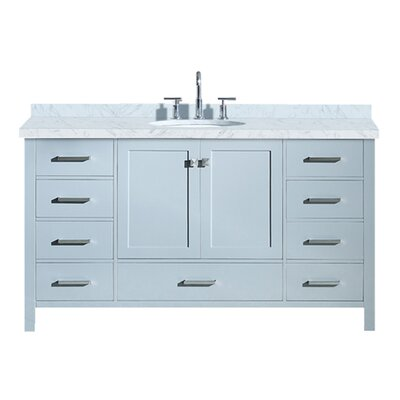 "Utley 61"" Single Bathroom Vanity Set Base Finish: Gray"