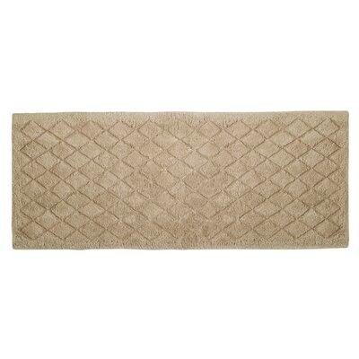 """Splendor Solid Bath Rug Size: 1"""" H x 24"""" W x 60"""" D, Color: Linen"""