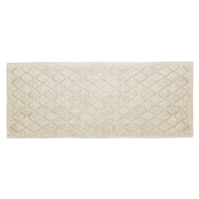 "Splendor Solid Bath Rug Size: 1"" H x 24"" W x 60"" D, Color: Ivory"