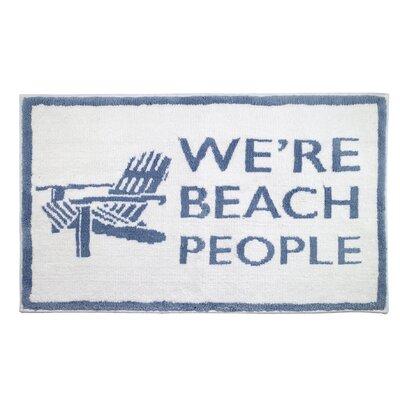 Beach Words Bath Rug