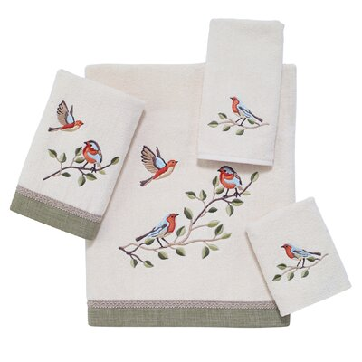 Bird Choir 4 Piece 100% Cotton Towel Set
