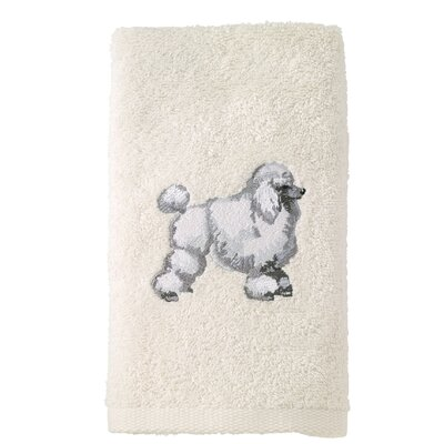 Poodle 100% Cotton Hand Towel