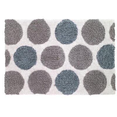 Dotted Circles Shower Bath Rug