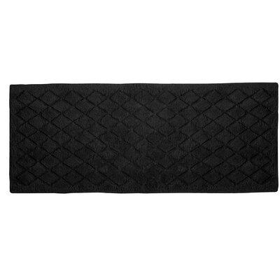 "Splendor Solid Bath Rug Size: 1"" H x 24"" W x 60"" D, Color: Black"