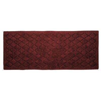 """Splendor Solid Bath Rug Size: 1"""" H x 24"""" W x 60"""" D, Color: Brick"""