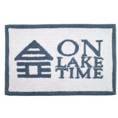 Lake Words Bath Rug