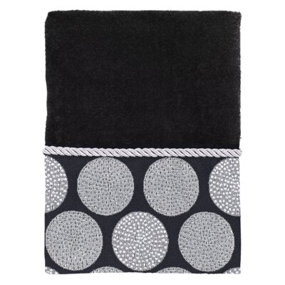 Greenough 100% Cotton Hand Towel Color: Black