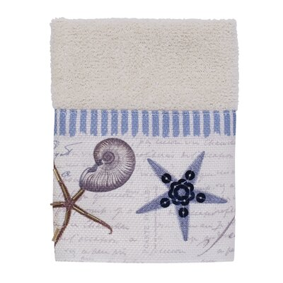 Antigua 100% Cotton Washcloth Color: Ivory