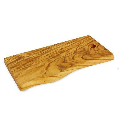 Olive Wood Live Edge Cutting Board Size: Large