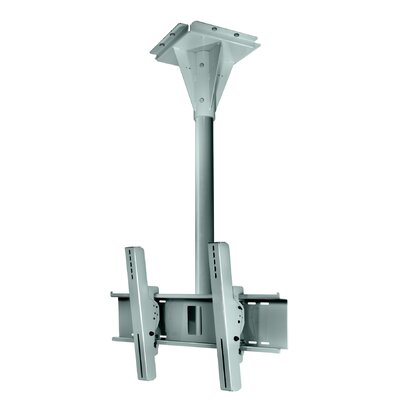 """Wind Rated Concrete Tilt/Swivel Universal Ceiling Mount for 32"""" - 65"""" Screens Finish: Silver"""