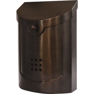Wall Mounted Mailbox Finish: Bronze Plated, Size: Large