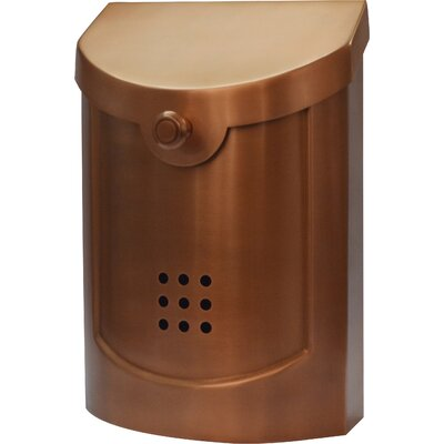Wall Mounted Mailbox Finish: Copper Plated, Size: Large