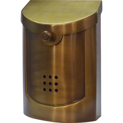 Wall Mounted Mailbox Finish: Satin Brass, Size: Large