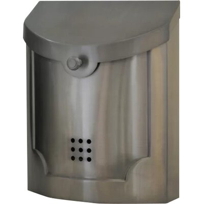 Wall Mounted Mailbox Finish: Satin Nickel Plated, Size: Large