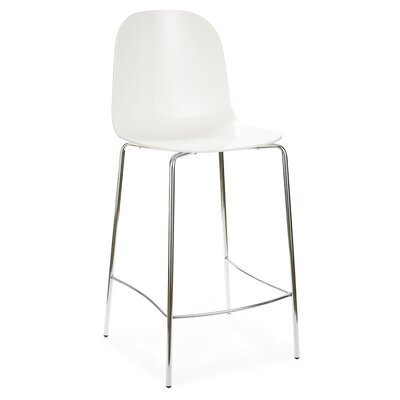 "Playa 26.5"" Bar Stool Upholstery: White"