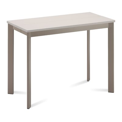 Mondo Console Table Base Finish: Taupe, Top Finish: Sand Glass