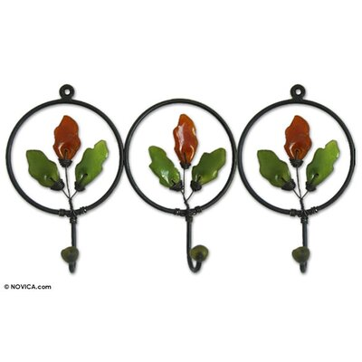 Artisan Crafted Iron and Recycled Glass with Copper Revival Coat Rack