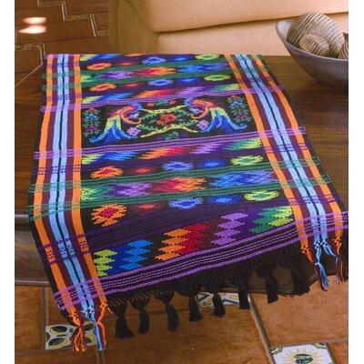 Ebony Quetzal Cotton Table Runner