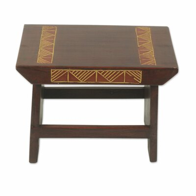 McHenry Masks Wood Accent Stool