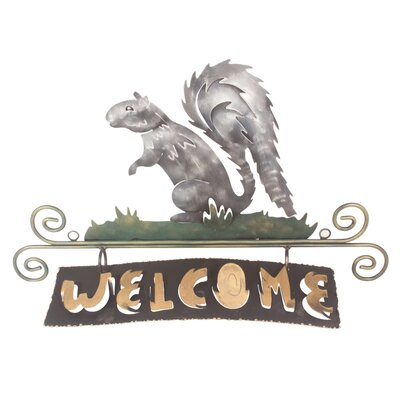 Novica The J Blas Artisan Squirrels Happy Welcome Sign Wall Décor