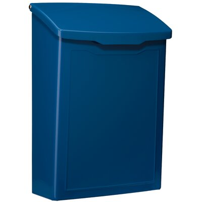 Marina 7 in x 10 in Steel Wall Mounted Mailbox Mailbox Color: Blue