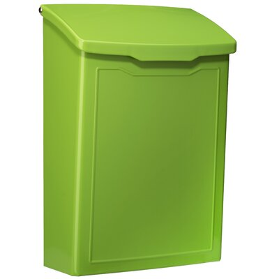 Marina 7 in x 10 in Steel Wall Mounted Mailbox Mailbox Color: Lime Green