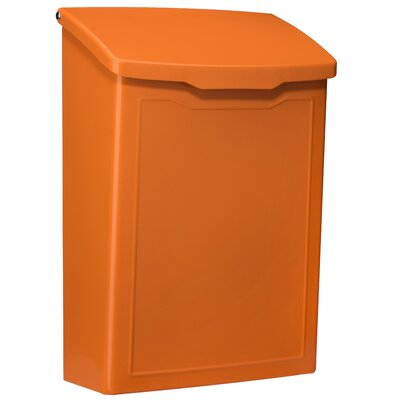 Marina 7 in x 10 in Steel Wall Mounted Mailbox Mailbox Color: Orange