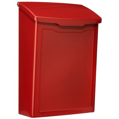 Marina 7 in x 10 in Steel Wall Mounted Mailbox Mailbox Color: Red