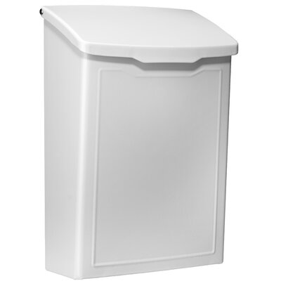 Marina 7 in x 10 in Steel Wall Mounted Mailbox Mailbox Color: White