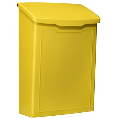 Marina 7 in x 10 in Steel Wall Mounted Mailbox Mailbox Color: Yellow