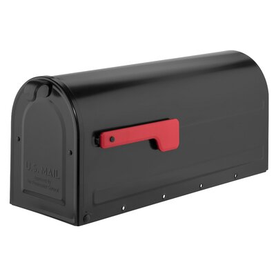 MB1 Post Mounted Mailbox Mailbox Color: Black