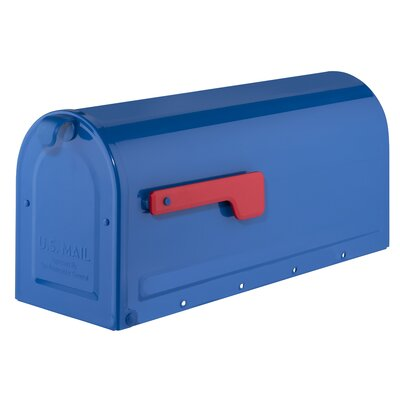 MB1 Post Mounted Mailbox Mailbox Color: Blue