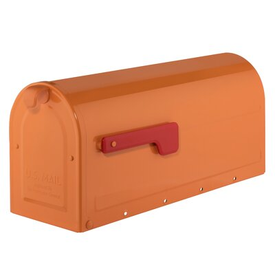 MB1 Post Mounted Mailbox Mailbox Color: Orange