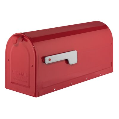 MB1 Post Mounted Mailbox Mailbox Color: Red