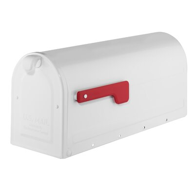 MB1 Post Mounted Mailbox Mailbox Color: White
