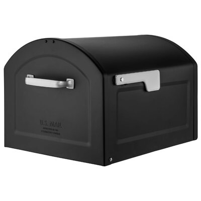 Centennial Large Capacity Parcel Post Mounted Mailbox Mailbox Color: Black