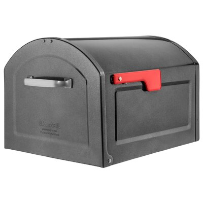Centennial Large Capacity Parcel Post Mounted Mailbox Mailbox Color: Pewter