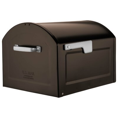Centennial Large Capacity Parcel Post Mounted Mailbox Mailbox Color: Rubbed Bronze