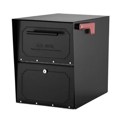 Oasis Locking Post Mounted Mailbox Color: Black