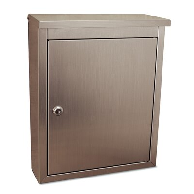 Metropolis Locking Wall Mounted Mailbox Stainless Steel Finish: Plain Satin