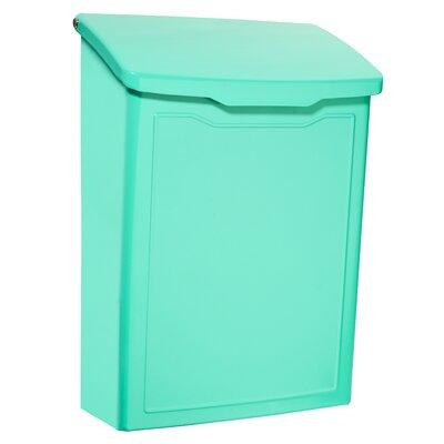 Marina 7 in x 10 in Steel Wall Mounted Mailbox Mailbox Color: Aqua