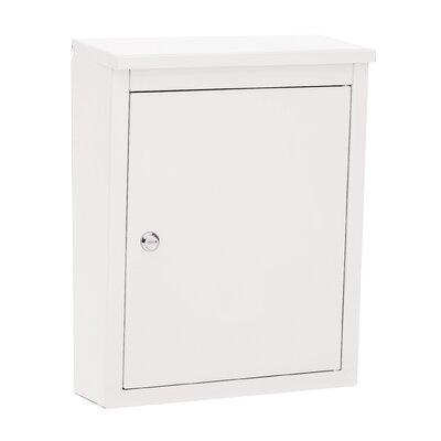 Soho Locking Wall Mounted Mailbox Powder Coating: White