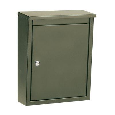 Soho Locking Wall Mounted Mailbox Powder Coating: Bronze