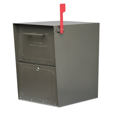 Oasis Locking Post Mounted Mailbox Color: Bronze