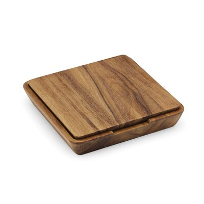 4 Piece Wood Cheese Board and Knife Set