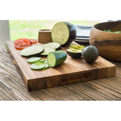 Wood Long Grain Chop Board Size: Small