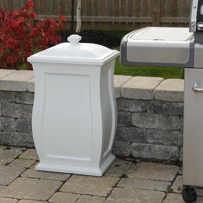 Mansfield 22 Gallon Plastic Deck Box Color: White