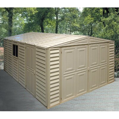 10 ft. 5 in. W x 18 ft. 2 in. D Plastic Garage Shed